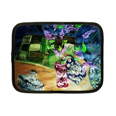 Lilac On A Countertop 2 Netbook Case (small)  by bestdesignintheworld