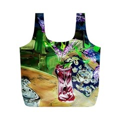 Lilac On A Countertop 2 Full Print Recycle Bags (m)  by bestdesignintheworld