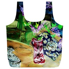 Lilac On A Countertop 2 Full Print Recycle Bags (l)  by bestdesignintheworld