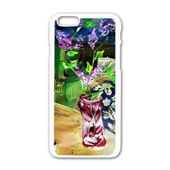Lilac On A Countertop 2 Apple Iphone 6/6s White Enamel Case by bestdesignintheworld