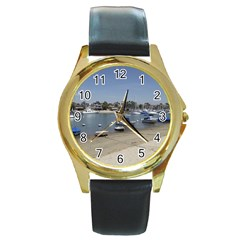 Balboa 3 Round Gold Metal Watch by bestdesignintheworld