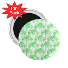 Palm Trees Green Pink Small Print 2 25  Magnets (100 Pack)  by CrypticFragmentsColors