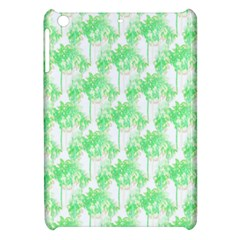 Palm Trees Green Pink Small Print Apple Ipad Mini Hardshell Case by CrypticFragmentsColors