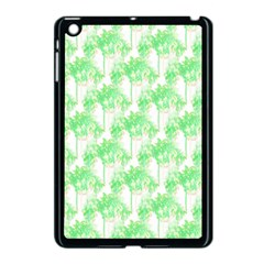 Palm Trees Green Pink Small Print Apple Ipad Mini Case (black) by CrypticFragmentsColors