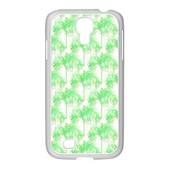 Palm Trees Green Pink Small Print Samsung Galaxy S4 I9500/ I9505 Case (white) by CrypticFragmentsColors