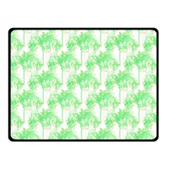 Palm Trees Green Pink Small Print Double Sided Fleece Blanket (small)  by CrypticFragmentsColors
