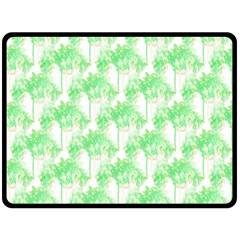 Palm Trees Green Pink Small Print Double Sided Fleece Blanket (large)  by CrypticFragmentsColors