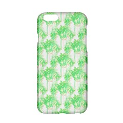 Palm Trees Green Pink Small Print Apple Iphone 6/6s Hardshell Case by CrypticFragmentsColors