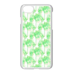 Palm Trees Green Pink Small Print Apple Iphone 8 Seamless Case (white) by CrypticFragmentsColors