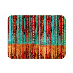 Stretched Exotic Blue Green Red And Orange Design Created By Flipstylez Designs Double Sided Flano Blanket (mini)