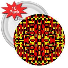 Red Black Yellow 1 3  Buttons (10 Pack)  by ArtworkByPatrick1