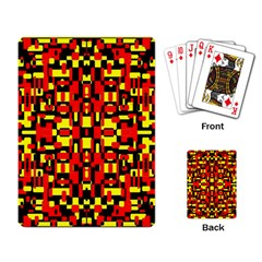 Red Black Yellow 1 Playing Card by ArtworkByPatrick1