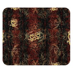 A Golden Dragon Burgundy Design Created By Flipstylez Designs Double Sided Flano Blanket (small)
