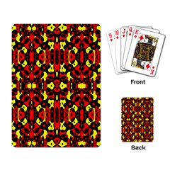 Red Black Yellow 5 Playing Card by ArtworkByPatrick1