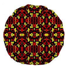 Red Black Yellow 5 Large 18  Premium Flano Round Cushions by ArtworkByPatrick1