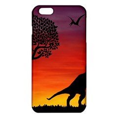 Sunset Dinosaur Scene Iphone 6 Plus/6s Plus Tpu Case by IIPhotographyAndDesigns