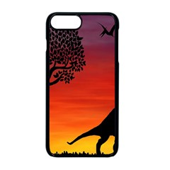 Sunset Dinosaur Scene Apple Iphone 8 Plus Seamless Case (black) by IIPhotographyAndDesigns