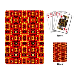 Red Black Yellow 7 Playing Card by ArtworkByPatrick1