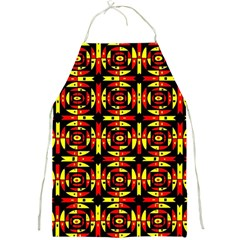 Red Black Yellow 9 Full Print Aprons by ArtworkByPatrick1