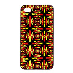 Red Black Yellow 9 Apple Iphone 4/4s Seamless Case (black) by ArtworkByPatrick1