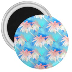 Palm Trees Summer Afternoon 3  Magnets by CrypticFragmentsColors