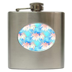 Palm Trees Summer Afternoon Hip Flask (6 Oz) by CrypticFragmentsColors