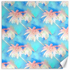 Palm Trees Summer Afternoon Canvas 12  X 12   by CrypticFragmentsColors