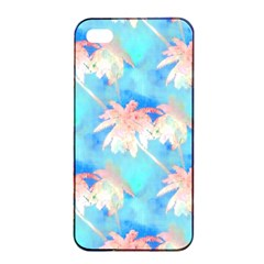 Palm Trees Summer Afternoon Apple Iphone 4/4s Seamless Case (black) by CrypticFragmentsColors