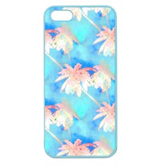 Palm Trees Summer Afternoon Apple Seamless Iphone 5 Case (color) by CrypticFragmentsColors