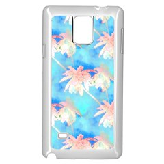 Palm Trees Summer Afternoon Samsung Galaxy Note 4 Case (white) by CrypticFragmentsColors