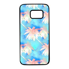 Palm Trees Summer Afternoon Samsung Galaxy S7 Black Seamless Case by CrypticFragmentsColors