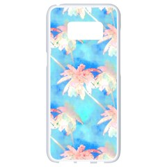 Palm Trees Summer Afternoon Samsung Galaxy S8 White Seamless Case by CrypticFragmentsColors