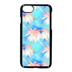 Palm Trees Summer Afternoon Apple Iphone 8 Seamless Case (black) by CrypticFragmentsColors