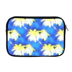 Palm Trees Bright Blue Green Apple Macbook Pro 17  Zipper Case by CrypticFragmentsColors