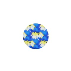 Palm Trees Bright Blue Green 1  Mini Buttons by CrypticFragmentsColors