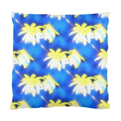 Palm Trees Bright Blue Green Standard Cushion Case (one Side) by CrypticFragmentsColors
