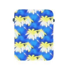 Palm Trees Bright Blue Green Apple Ipad 2/3/4 Protective Soft Cases by CrypticFragmentsColors
