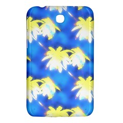 Palm Trees Bright Blue Green Samsung Galaxy Tab 3 (7 ) P3200 Hardshell Case  by CrypticFragmentsColors