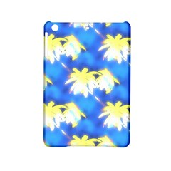 Palm Trees Bright Blue Green Ipad Mini 2 Hardshell Cases by CrypticFragmentsColors