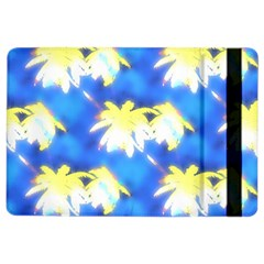 Palm Trees Bright Blue Green Ipad Air 2 Flip by CrypticFragmentsColors