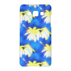 Palm Trees Bright Blue Green Samsung Galaxy A5 Hardshell Case  by CrypticFragmentsColors