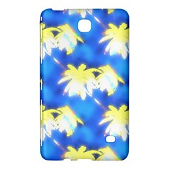 Palm Trees Bright Blue Green Samsung Galaxy Tab 4 (8 ) Hardshell Case  by CrypticFragmentsColors