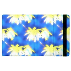 Palm Trees Bright Blue Green Apple Ipad Pro 12 9   Flip Case by CrypticFragmentsColors