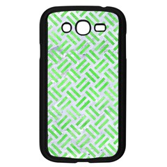 Woven2 White Marble & Green Watercolor (r) Samsung Galaxy Grand Duos I9082 Case (black) by trendistuff