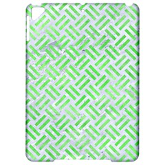 Woven2 White Marble & Green Watercolor (r) Apple Ipad Pro 9 7   Hardshell Case