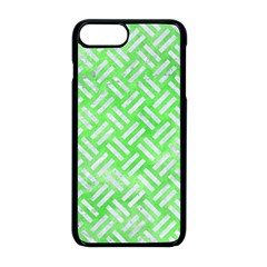 Woven2 White Marble & Green Watercolor Apple Iphone 8 Plus Seamless Case (black)