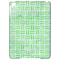 Woven1 White Marble & Green Watercolor (r) Apple Ipad Pro 9 7   Hardshell Case