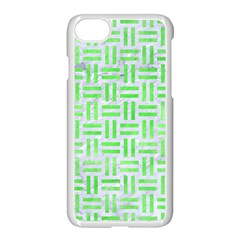 Woven1 White Marble & Green Watercolor (r) Apple Iphone 8 Seamless Case (white) by trendistuff