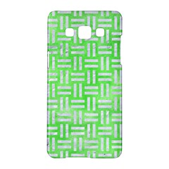 Woven1 White Marble & Green Watercolor Samsung Galaxy A5 Hardshell Case  by trendistuff