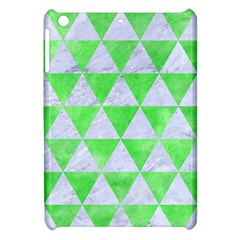 Triangle3 White Marble & Green Watercolor Apple Ipad Mini Hardshell Case by trendistuff